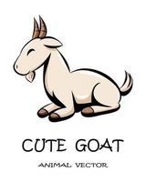 Cute goat animal vector eps 10