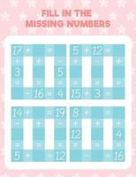 Fill in the missing numbers vector