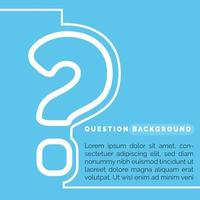 looking for an answer background template vector