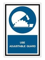 Symbol Use Adjustable Guard Isolate On White Background vector