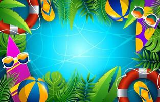 Summer Time Background vector