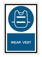Wear Vest Symbol Sign Isolate On White Background vector