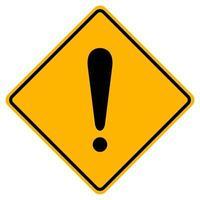 Señal de símbolo de advertencia de peligro sobre fondo blanco.