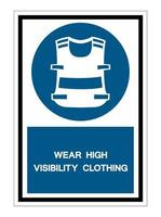 Symbol Wear Vest Isolate On White Background vector