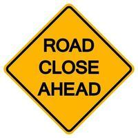 carril de la carretera de tráfico cerrado señal de símbolo de la carretera aislar sobre fondo blanco, ilustración vectorial
