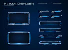 futuristic technology frames interface hud element design for ui games. web and app. Futuristic user interface. Vector design template