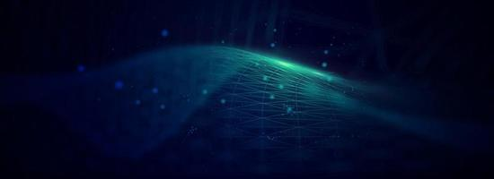 digital wave particles. Futuristic wave. Abstract  technology background vector illustration