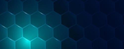 hexagonal abstract technology background. Vector Illustration