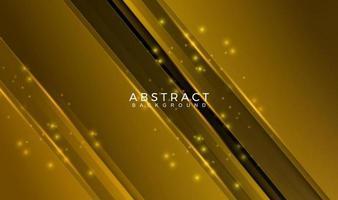 Línea geométrica abstracta con ilustración de vector de fondo de oro brillo
