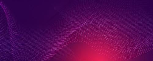partículas de ondas digitales. ola futurista. Ilustración de vector de fondo de tecnología abstracta