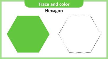 Trace and Color Hexagon vector