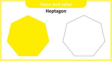 Trace and Color Heptagon vector