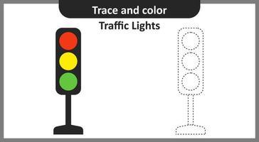 semáforos de seguimiento y color vector
