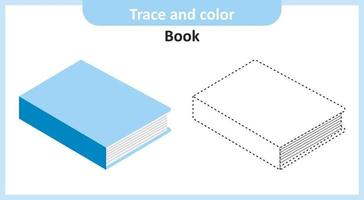 Trace and Color Book vector