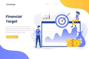 Financial target flat illustration concept for site vector