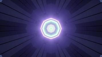 Dynamic Neon Illumination with Geometric Shapes 3d Illustration