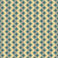 Abstract geometric sqaure background in neutral colors. Seamless blue. orange, and yellow vector pattern. Fashion fabric patchwork design. Simple geometry chevron pattern
