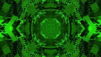 Illustration 3D du tunnel en mouvement vert video
