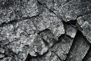 pedazo de granito agrietado foto