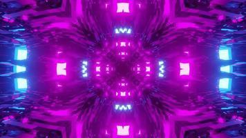 3d Illustration of Moving Tunnel with Neon Illumination video