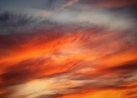 Sunset colors on clouds