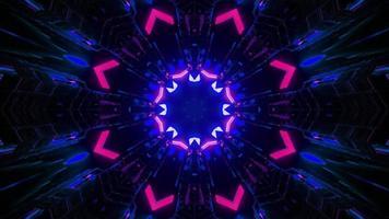 Ilustração 3D do corredor geométrico em movimento