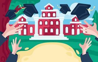 fondo de graduación universitaria vector