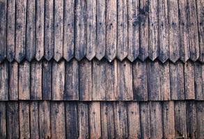 tejas de madera antiguas foto