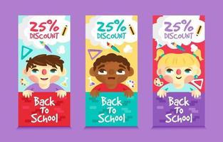 Back to School Banner Set vector
