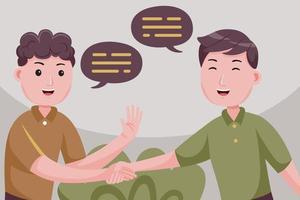 Businessmen makes deal, shaking hands. vector
