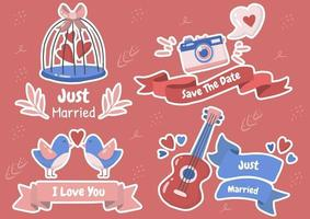 Cute Valentine's day set vector