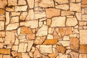 Beige stone wall photo