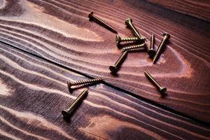 Screws on wood