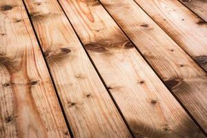 Retro wooden boards diagonally laid photo