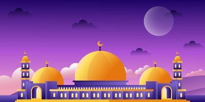ramadan background islamic vector