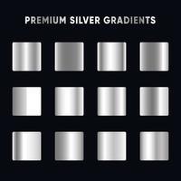 Premium Silver Gradient Set vector
