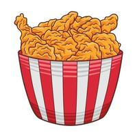 Fried Chicken illustration in modern flat design style. vector