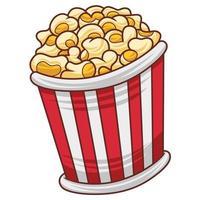 Popcorn illustration in modern flat design style. vector