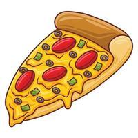 Pizza illustration in modern flat design style. vector