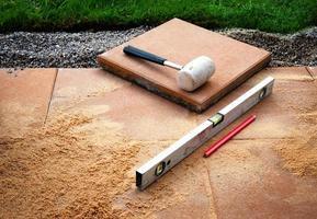 colocación de herramientas de hormigón