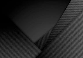 Abstract black stripes diagonal with lines layered on dark background and texture. vector