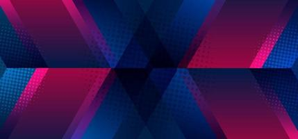 Abstract modern arrow geometric shape vibrant color with halftone effect background vector