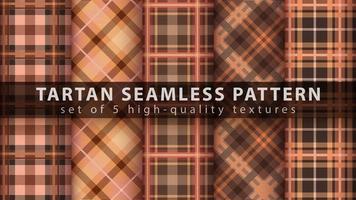 Set classic tartan seamless pattern. vector