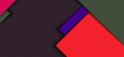 Banner web template design red, blue square overlapping layer with stripes with shadow on grid background. vector