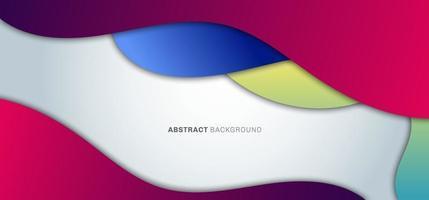 Forma de gradiente fluido colorido de moda abstracto sobre fondo blanco vector