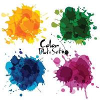 Abstract set of color blots. vector