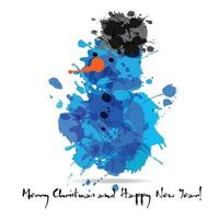 Merry christmas abstract card of blots . vector