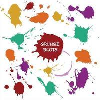 Blots color set vector illustration