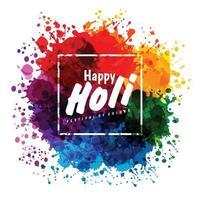 festival de primavera holi de colores elemento de diseño vectorial y texto de muestra. vector