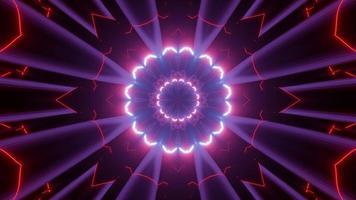 Ilustração 3 d de fundo abstrato luminoso video